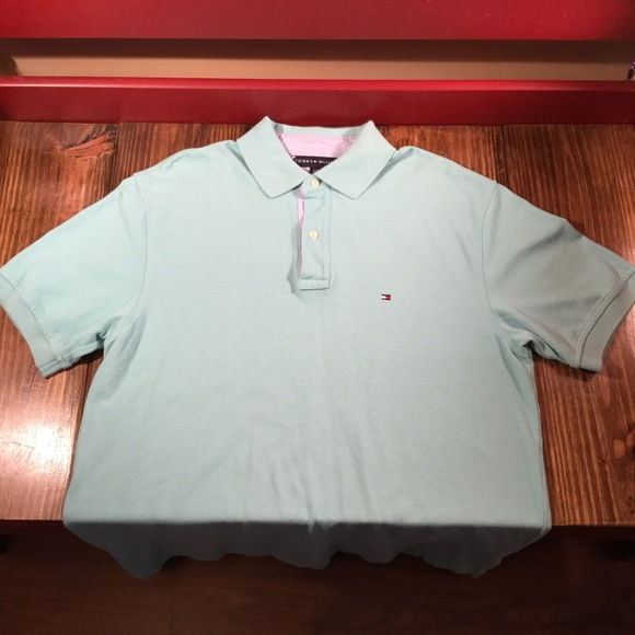 Tommy Hilfiger Blue Polo Shirt Men's SS Large